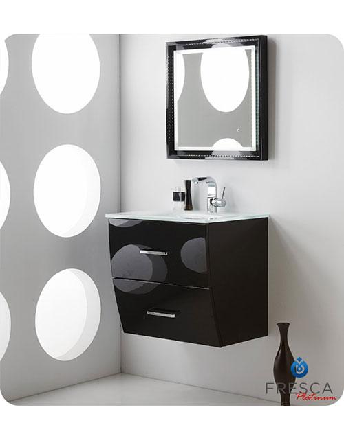 Modern Bathroom Vanity Fresca Platinum Wave Kitchen Bathroom - 24 contemporary bathroom vanity